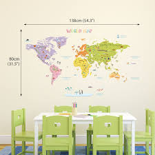 world map wall sticker uk inspiration interior home design ideas
