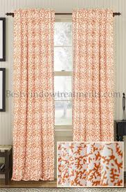 Coral Blackout Curtains Curtains Orange Blackout Curtains Momentous Orange And Grey