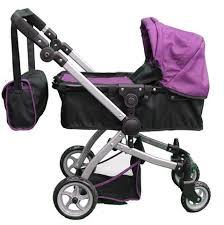 babyboo deluxe doll pram color purple u0026 black swiveling
