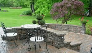 Beautiful Patio Gardens Comfortable Covered Patio Garden Design Ideas Using Blue Wooden