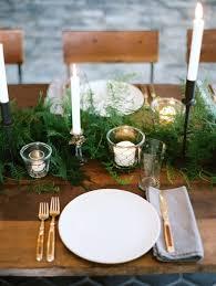 Fern N Decor A Winter Wedding Tablescape Of Lush Green Ferns And Flickering