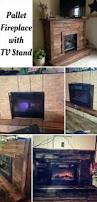 fireplace with tv stand