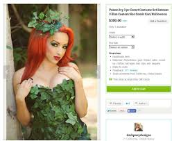 Green Ivy Halloween Costume Botanical Accuracy Batman Poison Ivy U0027s Leaves