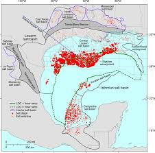 Gulf Of Mexico Depth Map by Jurassic Evolution Of The Gulf Of Mexico Salt Basin Aapg Bulletin