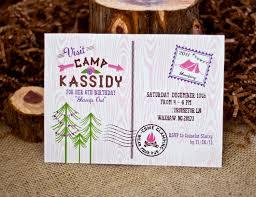 fun camping party invitation samples and ides momecard