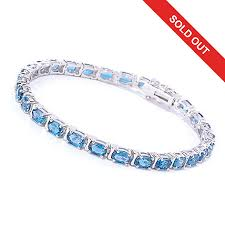 blue topaz silver bracelet images Gem insider sterling silver choice of length london blue topaz