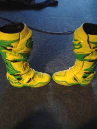 fox motocross boots for sale fox racing le yellow green instinct boots size 9 for sale bazaar