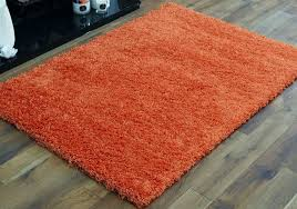 Orange Modern Rugs Shaggy Large 120x170cm Rugs 5cm Thick Non Shed Quality Orange
