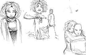 random sketches the art of burrell gill jr