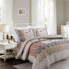 chausub cotton patchwork quilt set korean style bedspread bed cover