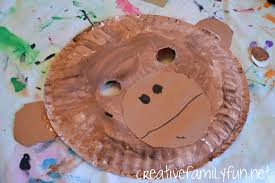 Paper Plate Monkey Craft - all about monkeys a learning basket creative family