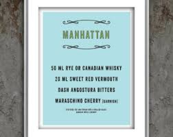 Cocktail Party Quotes - manhattan cocktail etsy