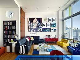 vibrant living room interior in beach residence form4 architecture