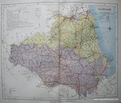 Durham England Map by Durham England Antique Maps And Charts U2013 Original Vintage
