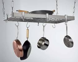 kitchen pot racks with lights amazon com concept housewares pr 40902 stainless steel hanging