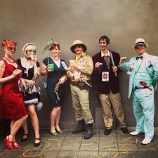 the cast of clue 25 clever halloween costumes to wear as a group