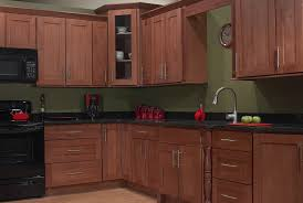 Natural Cherry Shaker Kitchen Cabinets Simple Single Kitchen Cabinet Line In Design In Single Kitchen