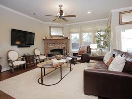 clerestory windows lots of coffered ceiling beige sectional sofa