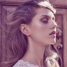 constellation earrings big dipper constellation diamond earrings 14k gold logan