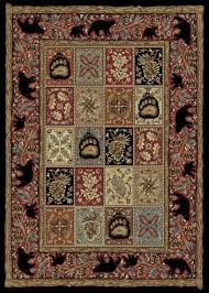 Area Rugs For Cabins Masters Lodge Ebony Cabin Area Rug The Log Furniture Store