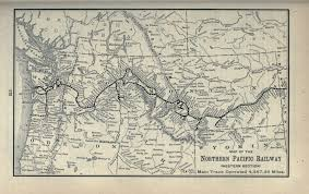 Union Pacific Railroad Map Northern Pacific Railroad System Map 1900