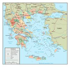 Europe Map Cities by Large Political And Administrative Map Of Greece With Roads And