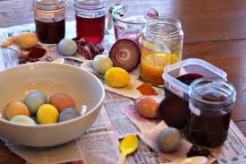 naturally dyed easter eggs with beets onion cabbage and more