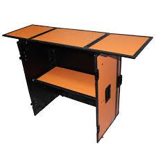 prox xs djstnob fold away dj performance desk facade with wheels