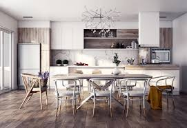 Retro Style Kitchen Table Furniture Trendy Scandinavian Style Dining Table And Chairs