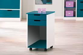 caisson de bureau sur roulettes caisson de bureau contemporain avec roulettes blanc bleu pétrole