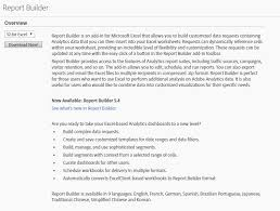 report builder templates adobe report builder the definitive guide seer interactive