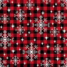 plaid christmas buffalo plaid snowflakes winter christmas fabric snowflakes