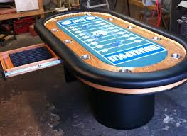 poker table top and chips custom poker table custommade com intended for decor 19