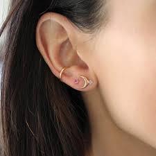 studs for ears 14k ear cuff lumo