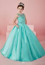 mint green elegant satin first communion dresses for crystal