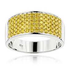 wedding ring for men designer 10k gold yellow diamond wedding band for men 1 67ct