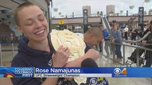 Colorado Travel Fan images Colorado mma fighter crowned ufc strawweight champ cbs denver jpg