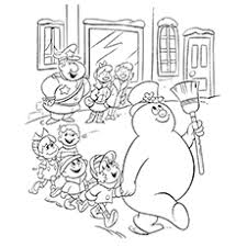 rudolph frosty coloring pages coloring pages ideas