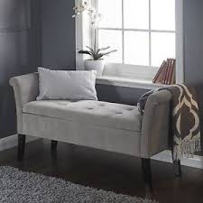 shabby chic storage seat bench furniture bedroom vintage ottoman