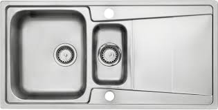 B Q Kitchen Sinks by Cooke U0026 Lewis Passo 1 5 Bowl Polished Stainless Steel Sink