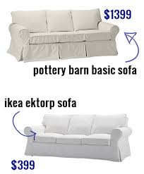Ektorp 3 Seater Sofa Bed Cover Ikea Ektorp Sofa Versus Pottery Barn Basic Sofa Buy A Cheap White