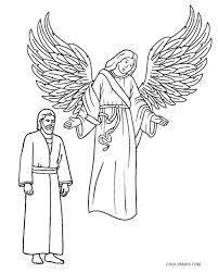 coloring page angel visits joseph free printable angel coloring pages for kids cool2bkids
