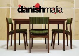 mid century danish modern teak dining set table u0026 6 chairs