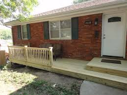 interior delectable front porch design with brown brick e