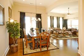 living room with dining area home design
