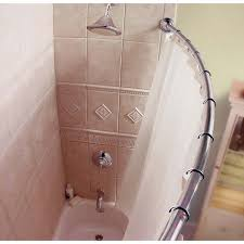 decorate with curved shower curtain rod u2014 the homy design