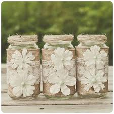 jar decorations for weddings ideas for wedding with burlap burlap decorations for wedding