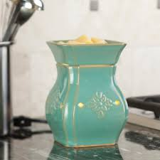 candle warmers etc 8 8 in vintage turquoise illumination