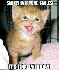 Finally Friday Meme - smiles everyone smiles its finally friday caption by kitt meme