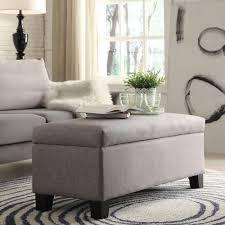oxford creek elbridge gray linen upholstered storage bench home